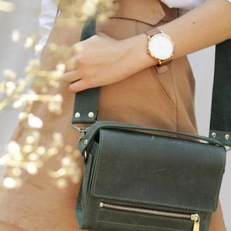 Кожаная сумочка через плечо. Женская кожаная сумочка.