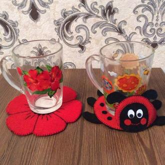 Подставки под чашки - весення коллекция