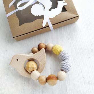 Грызунок для малыша. Подарок новорожденному