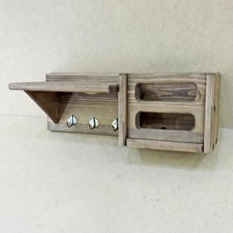 Ключница деревянная Кронборг капучино