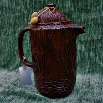 Чайник -текстура под дерево.
