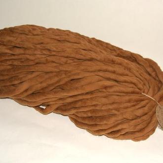 Толстая пряжа ручного прядения/ №11 Бурбон