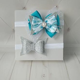 Праздничные повязки на голову для ребенка Подарок девочке на 2 года Украшение для волос для детей