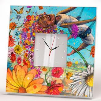 """Оригинальные красивые часы """"Цветы"""""""