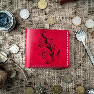 ЭКСКЛЮЗИВНЫЙ кошелек (портмоне) из натральної кожи с рисунком ручной работы. (13)