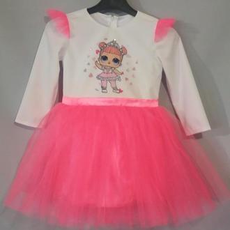 Платье для девочки с куколкой ЛОЛ