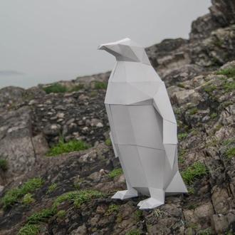 Наборы для создания 3д фигур Оригами Паперкрафт Бумажная модель Papercraft ПИНГВИН