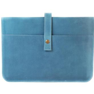 Чехол для ноутбука ручной работы. 03004/голубой