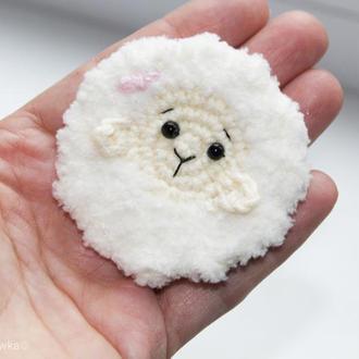 Заколка дитяча овечка подарунок дівчинці Заколка детская овечка подарок девочки