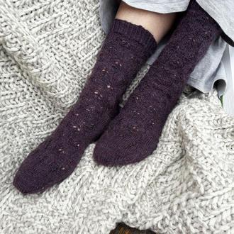 Вязаный шерстяные женские носки