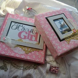 """Мамины сокровища и фотоальбом """"It's a girl"""""""