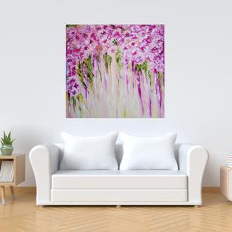 Картина цветы абстракция