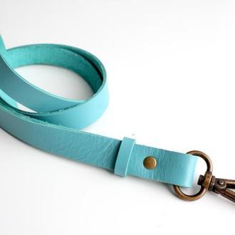 Шнурок Ремешок для бейджа или ключей бирюзовый