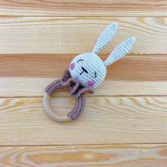 Погремушка-грызунок Зайка