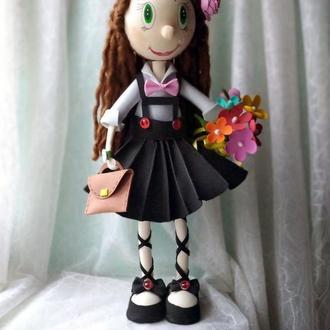 "кукла  из фоамирана ""Школьница"""