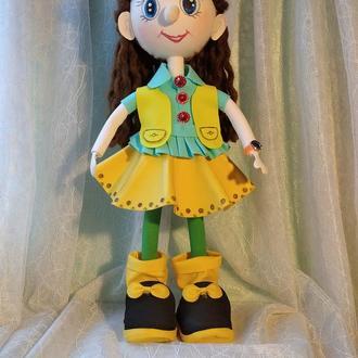 """кукла  из фоамирана """"Малышка в желтом платье"""""""