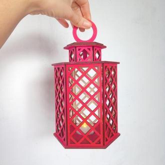 Ночник, фонарик  для led свечи, отличный сувенир на День Влюбленных.