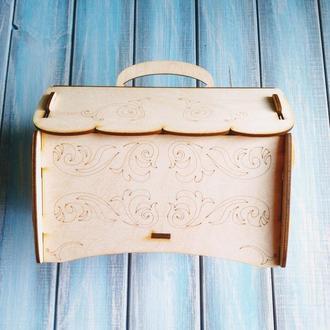 Шкатулка сувенирная, коробка для подарка, заготовка для росписи.