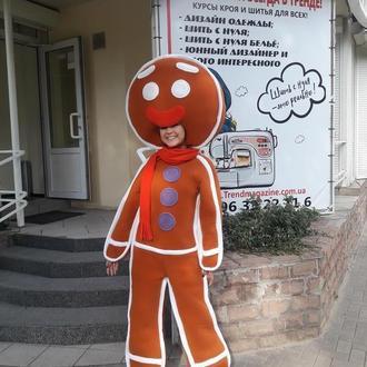 Костюм для аниматора: пряничный человечек Пряня
