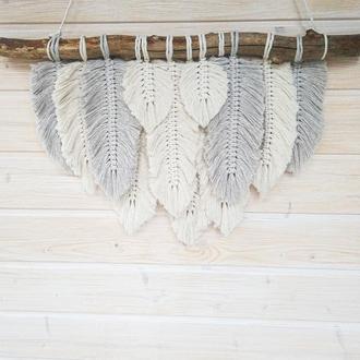Панно из перьев в стиле бохо
