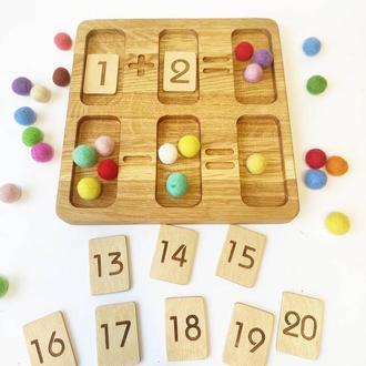 Развивающая игрушка Монтессори для изучения цифр и счета математическая игра подарок для детей