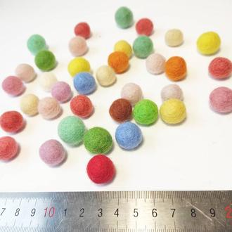 Шарики из шерсти , войлочные шарики 1,5 см, 15 мм шерстяные шарики