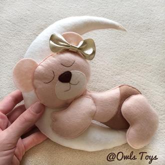 Мишка из фетра, панно в детскую