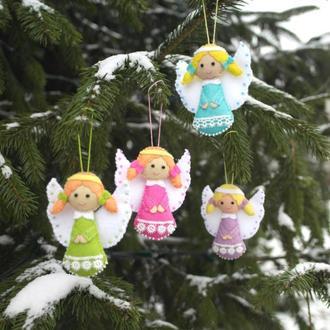 рождественские ангелочки из фетра