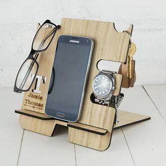 Интересный многофункциональный настольный органайзер для мобильного телефона, очков, часов, ключе