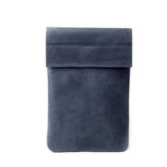 Кожаный чехол для iPad на хлястике. 03002/синий