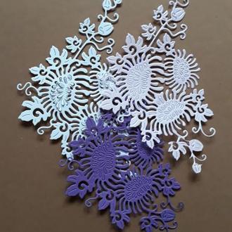 Картонная вырубка Хризантемы, Высечка для скрапбукинга