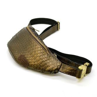 Эксклюзивная напоясная сумка из натуральной кожи рептилии REP-3034-3md бренда Tarwa