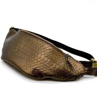 Напоясная сумка из эксклюзивной кожи питона REP-3036-4lx TARWA