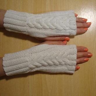 Митенки перчатки без пальцев женские - Тепло кашемира