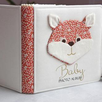 Дитячий альбом з лисичкою, Альбом для хлопчика, Белый детский альбом, Альбом с лисичкой