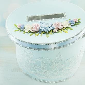 Сундук для денег розовый / Скриня для грошей голуба / Коробка весільна / Для свадьбы