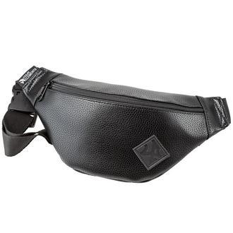 Черная поясная сумка - бананка с экокожи