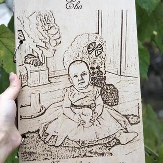 Альбом для фотографий с ПОРТРЕТОМ Ребенка