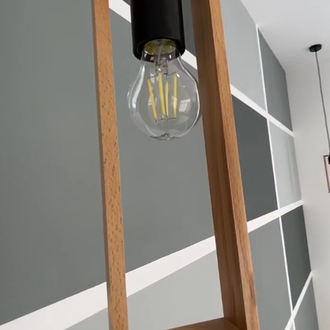 Прямоугольный деревянный светильник