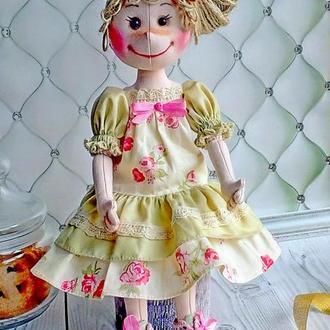Авторская текстильная кукла в стиле кантри.