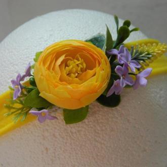 Желтая повязочка для девочки