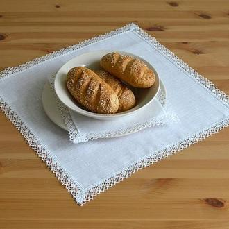 Льняные белый салфетки