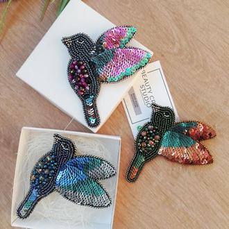 Брошь колибри