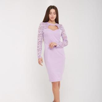 Вечернее, привлекательное платье сиреневое. Размеры: 44,46,48,50.