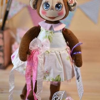 Текстильная обезьянка.
