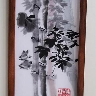 Воробьи в бамбуковой роще