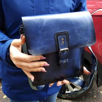 Кожаная сумка-планшет унисекс