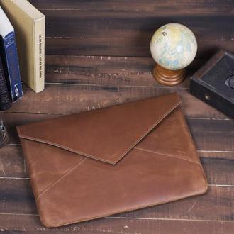Кожаный чехол для ноутбука в форме конверта