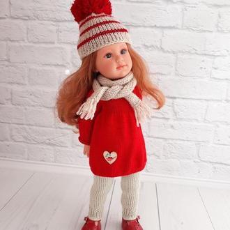 Вязаная одежда на куклу Лоренс 42 см, наряд для Лоренс София, подарок девочке