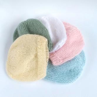 пуховая шапочка для младенца